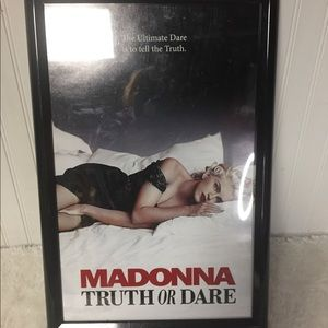 Madonna Truth Or Dare Framed Picture 18x12.